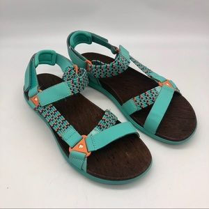 Merrell performance turquoise hiking sandals